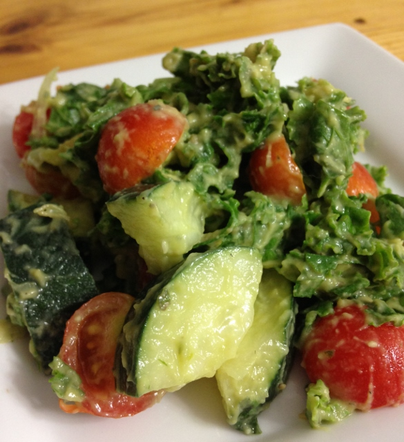 Avocado Kale Salad | In Johnna's Kitchen