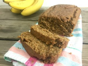 Peanut Butter Banana Bread, gluten-free and vegan | In Johnna's Kitchen