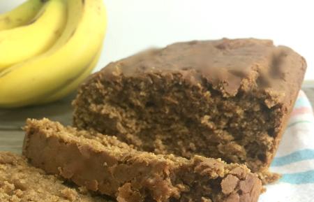 Peanut Butter Banana Bread, gluten-free and vegan | In Johnna's Kitchen