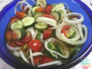 Cucumber Onion Tomato Salad | In Johnna's Kitchen