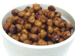 Maple Sriracha Roasted Chickpeas