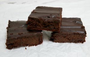 Zucchini Brownies with Ganache Frosting (gluten-free, Dairy-free) | In Johnna's Kitchen