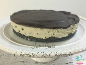 No Bake Chocolate Chip Cheesecake (gluten-free, dairy-free, egg-free, vegan) | In Johnna's Kitchen