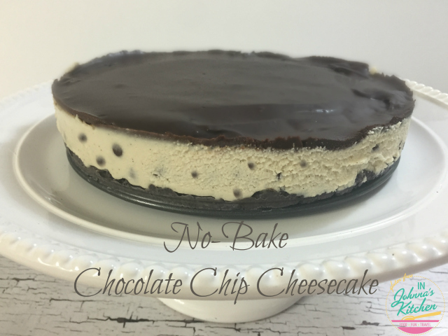 No-Bake Chocolate Chip Cheesecake (gluten-free, dairy-free, egg-free, vegan) | In Johnna's Kitchen
