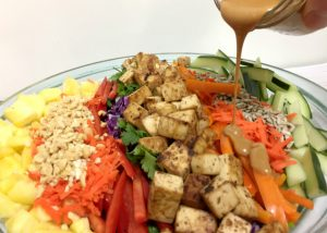 Crunchy Thai Salad with Peanut Dressing