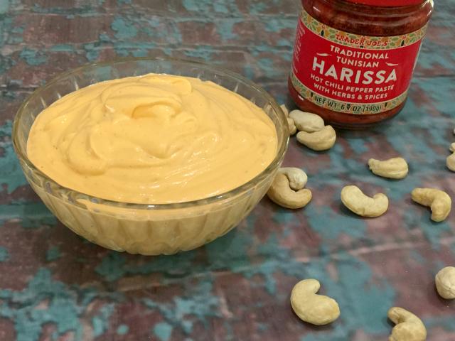 Harissa Cashew Cream (gluten-free, dairy-free, vegan) | In Johnna's Kitchen