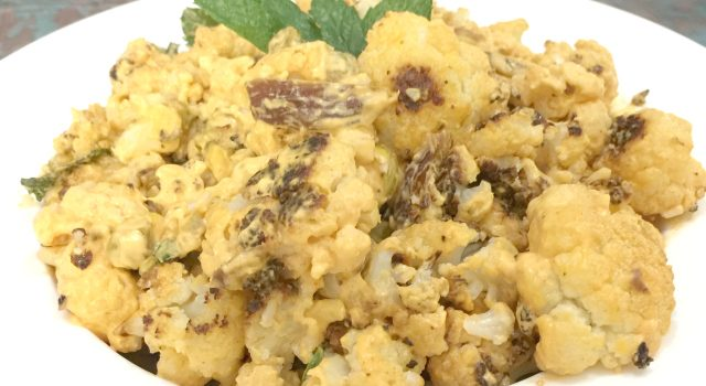 Harissa Roasted Cauliflower (gluten-free, dairy-free, vegan)