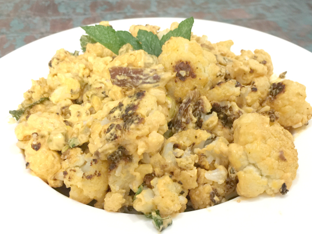 Harissa Roasted Cauliflower (gluten-free, dairy-free, vegan)   In Johnna's Kitchen