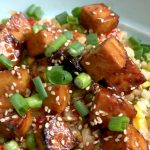 Baked Bang Bang Tofu Recipe | In Johnna's Kitchen gluten-free, dairy-free, vegan, vegetarian