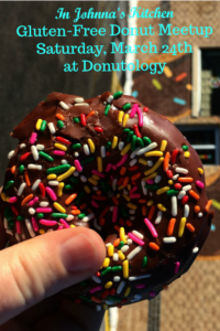 Join Johnna for Gluten-Free Donuts at Donutology, March 24th