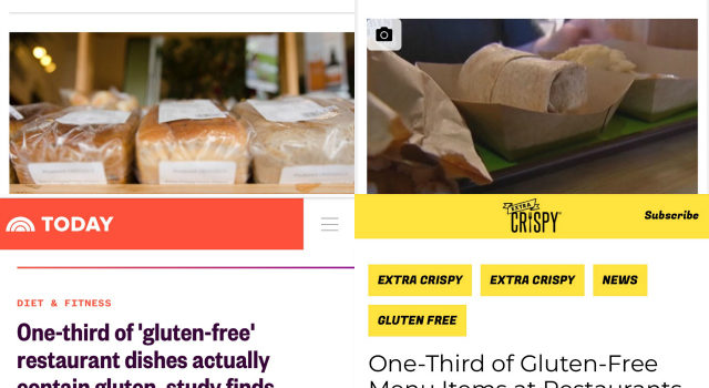 Gluten-Free Restaurant Study: Flawed, Click Bait, Misleading