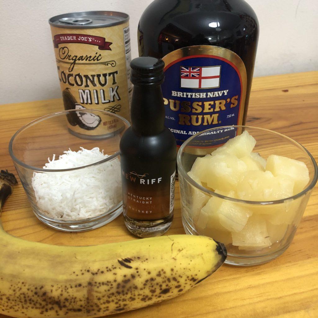 Boozy Advent Bourbon Banana Colada | In Johnna's Kitchen