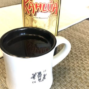 Boozy Advent Coffee and Kahlua