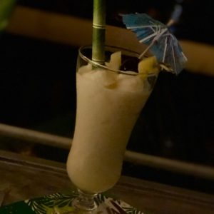 Boozy Advent Spiced Rum Frozen Pina Colada