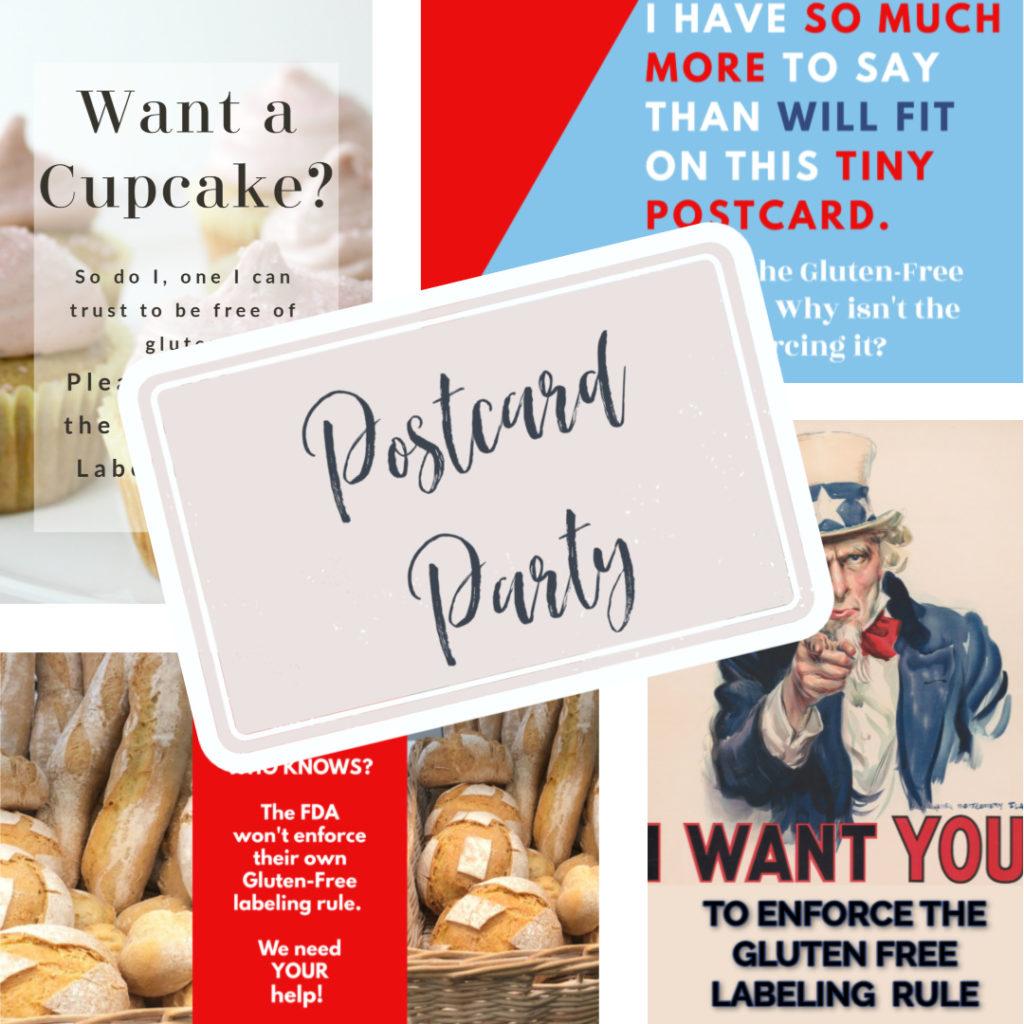 Gluten Free Labeling Rule Postcard Party