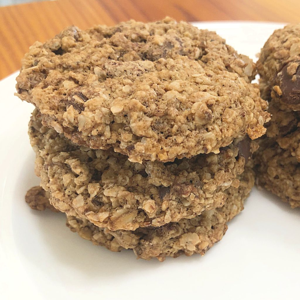 Gluten-Free Oatmeal Chocolate Chip Cookies | In Johnna's Kitchen