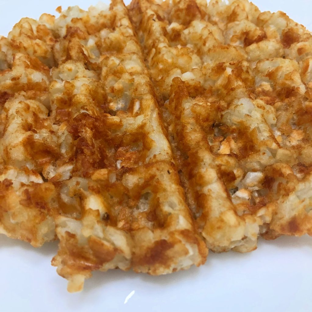 Tot-Tada, Waffled Tater Tot Tostada | In Johnna's Kitchen
