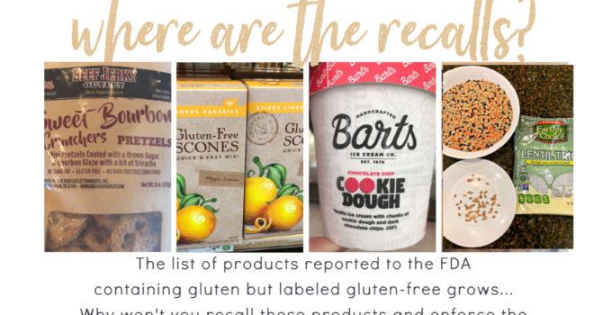 More Gluten-Free Postcards, RECALLS