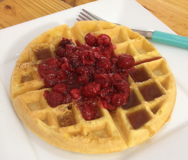 Lazy Morning Belgian Waffle, Gluten-Free | In Johnna's Kitchen