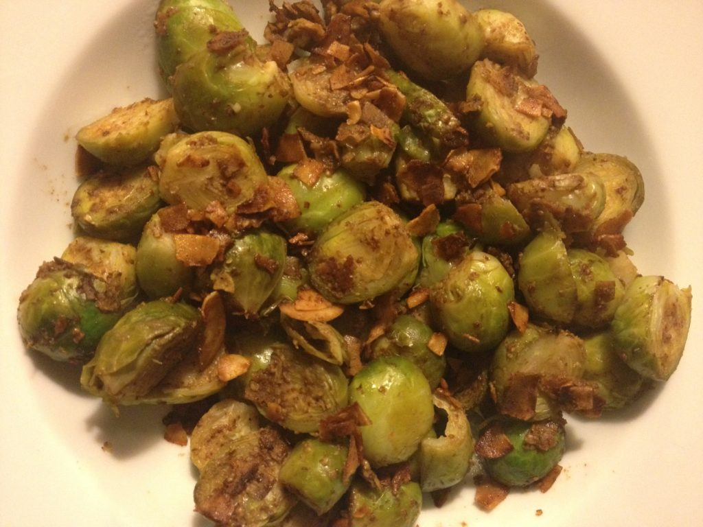 Mustard Balsamic Brussels Sprouts with Bacon | In Johnna's Kitchen