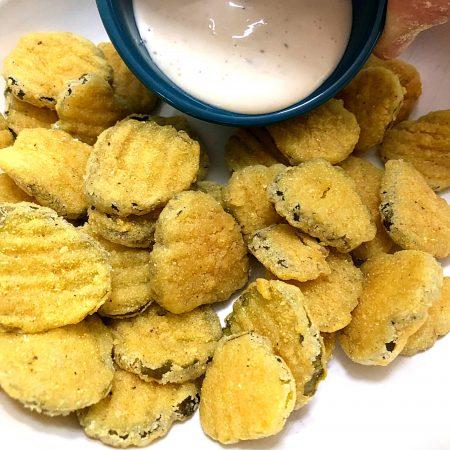 Restaurant Style Fried Pickles, Gluten-Free | In Johnna's Kitchen